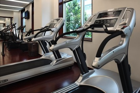 Fitness centre with treadmills