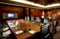 Boardroom with wall-mounted monitor