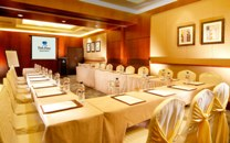 Meeting room set up in U-shape