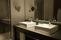 Bathroom with modern amenities at our Cardiff hotel