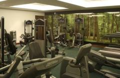 Fitness centre with treadmills and weight machines