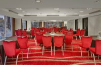 Cabaret-style meeting setup in Leeds hotel event venue