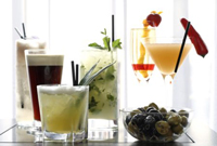 A selection of elegant drinks