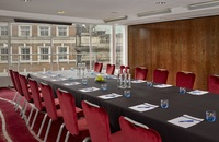 Long boardroom table in Leeds meeting space
