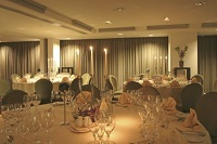 Candlelit wedding banquet setting