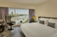 London hotel room with a view of the Thames