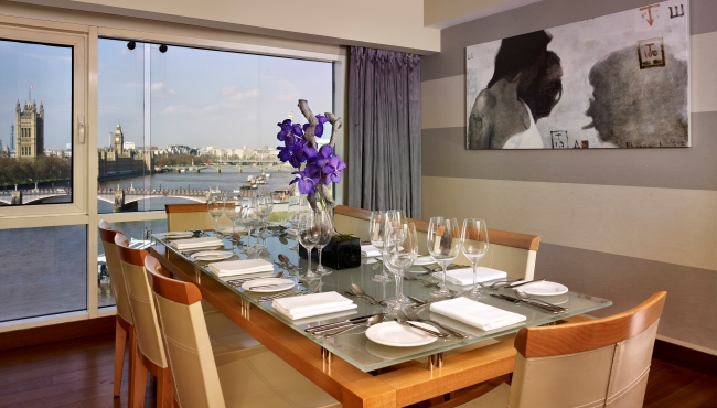 In-suite dining room
