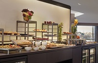 Pastries and fruit in Executive Lounge