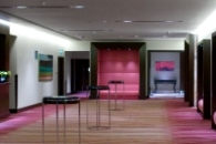 London hotel's long event exhibition hall