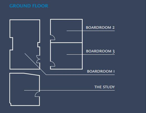 Floor plans for London hotel's conference space