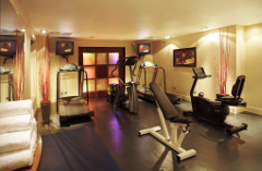London hotel fitness centre with fresh towels