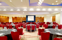 London ballroom with round-table event setup