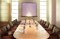 Victoria London boardroom with projector screen