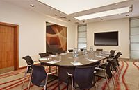 Victoria London boardroom with screen