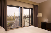 Hotel room overlooking London street