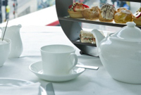 Tea and pastries at 1WB Lounge & Patisserie