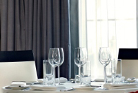 Dining place settings at Park Plaza Westminster Bridge London