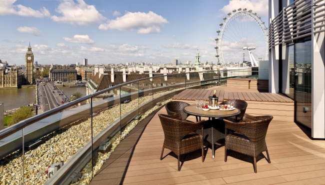 Terrace Overlooking Westminster Bridge Ben And The London Eye