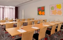 Berlin hotel conference room with training setup