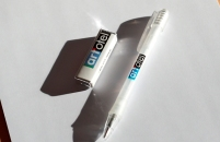 Eraser and pen with art'otel branding