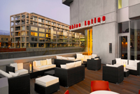 Terrace seating at art'otel cologne