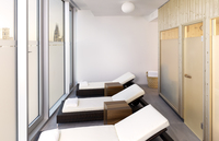 Fitness centre's relaxation area