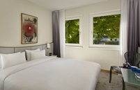 Berlin hotel room with courtyard view