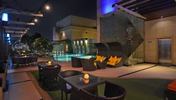 Seating by pool
