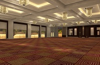 Grand Ballroom featuring carpeted floors and large windows