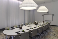 Schiphol hotel meeting room set in boardroom style