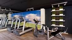 Vondelpark hotel's health club with high-quality equipment