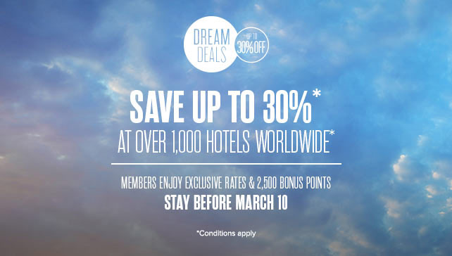 Dream Deals - Save up to 30%