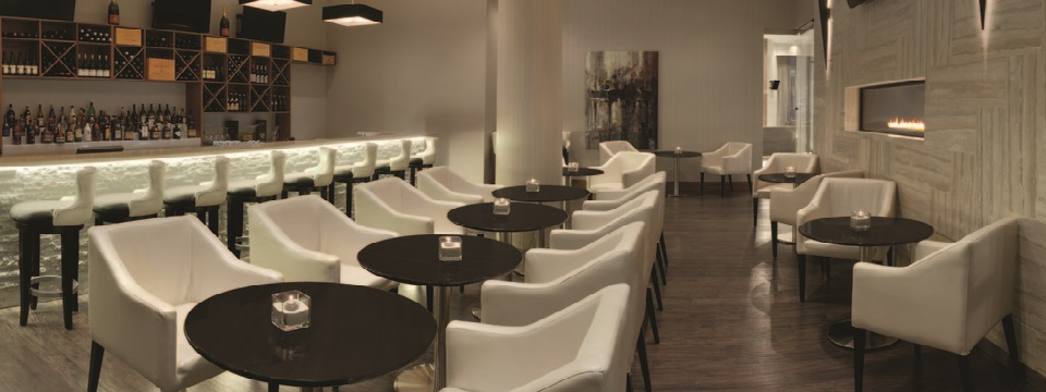 Comfortable seating in hotel's wine bar
