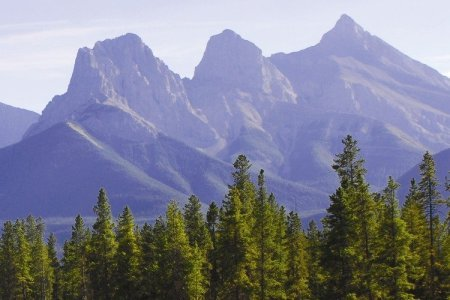 Three Sisters - Summer View