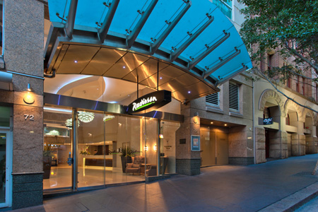 Radisson Hotel And Suites Sydney Entrance From Liverpool Street