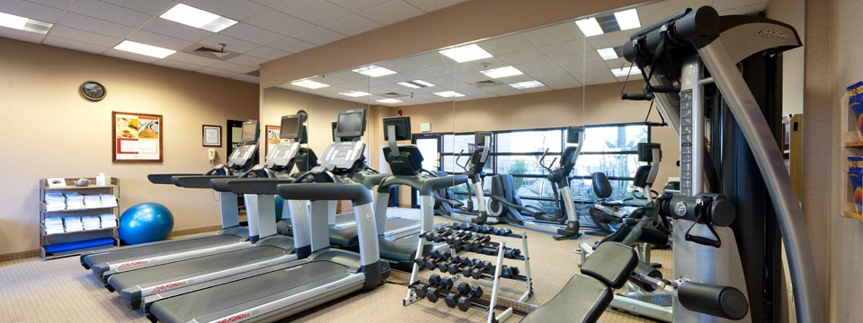 On-site Fitness Center with Treadmills and a Universal Machine