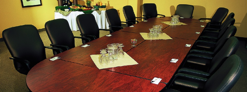 Conference room with long table