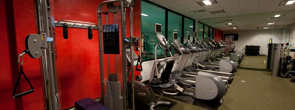 Weight machine, treadmills and ellipticals in fitness center