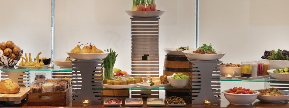 Delicious spread featuring fruits, vegetables and deli cuts