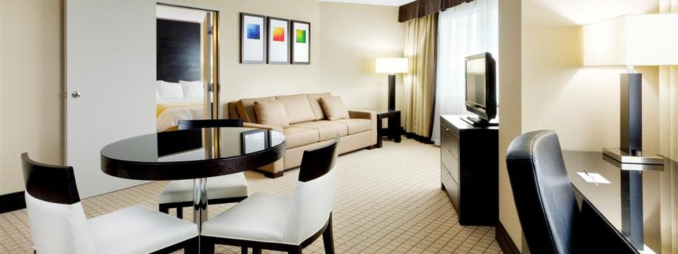 Suite's living and dining areas