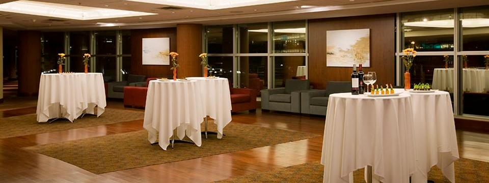 Pre-function reception space with high-top tables