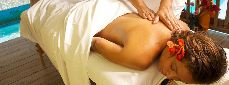 Outdoor massage therapy at hotel's Spa Anew