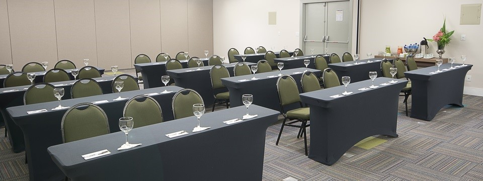 Meeting room set up in classroom style