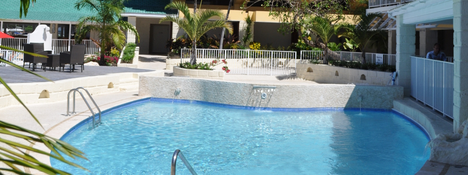Whirlpool tub at Barbados hotel