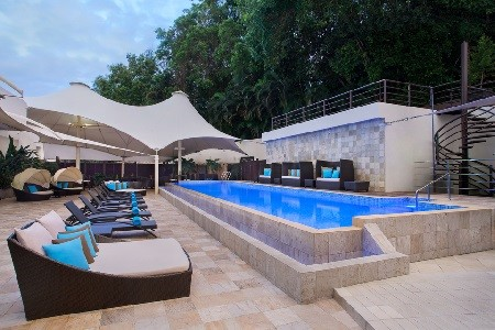 Hotel swimming pool in Bandar Seri Begawan