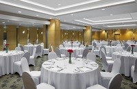 Elegant ballroom at our hotel in Brunei Darussalam