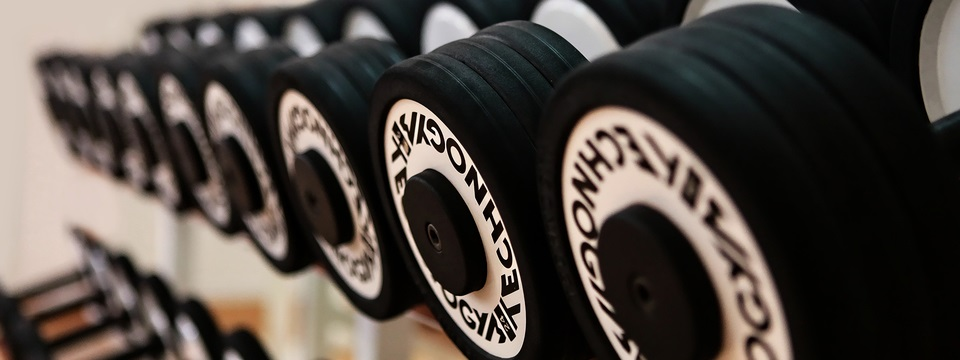 Free weights at Brunei hotel's fitness centre