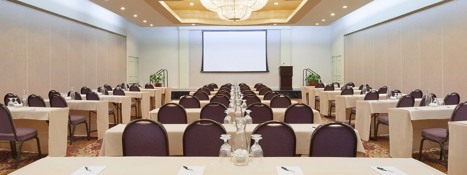 Los Angeles event space with projector screen