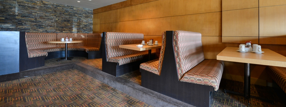 Casual restaurant with booths at hotel in Edmonton