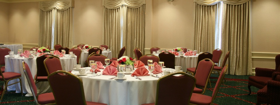 Banquet setup in the meeting room